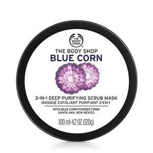 Picture of The Body Shop- Blue Corn 3 In 1 Deep Purifying Scrub Mask 100ml