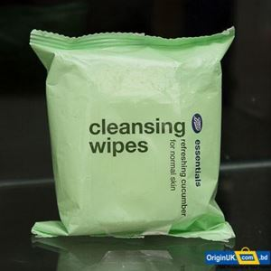 Picture of Boots Essentials Cucumber Cleansing Wipes 25pcs, 100g
